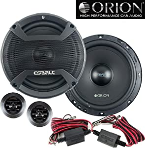 "Orion CO652C New 2019 Model 6.5"" 2-Way 500 Watt 4ohm Cobalt Series Car Audio Component Speaker system"
