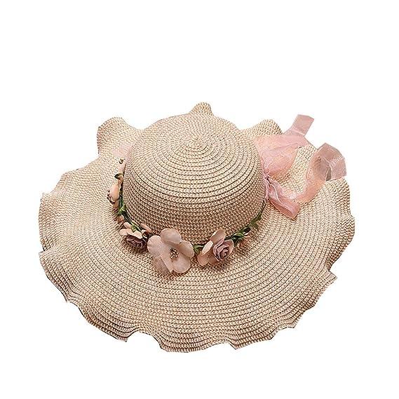 Staresen Sombrero Playa de Verano Sombrero de Perla Sol Plegable Hueco  Suave ala Ancha Sombrero Visera para Mujeres para Mujer Floppy Plegable  Gorra de ... 5f0ef2ebfe2