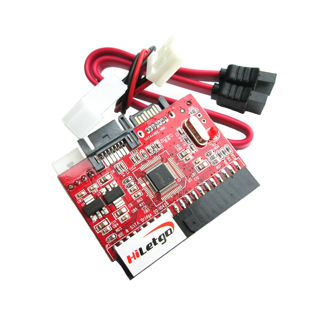 HiLetgo IDE to SATA SATA to IDE ATA ATAPI Serial HDD Mutual Converter Adapter with Cable HiLetgo®
