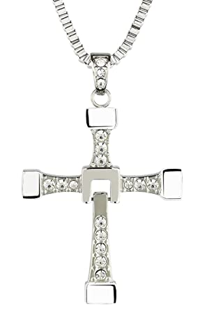 00d6f7362ca1b Fast and Furious Dominic Toretto Vin Diesel Cross Necklace Jewelry  Stainless Steel