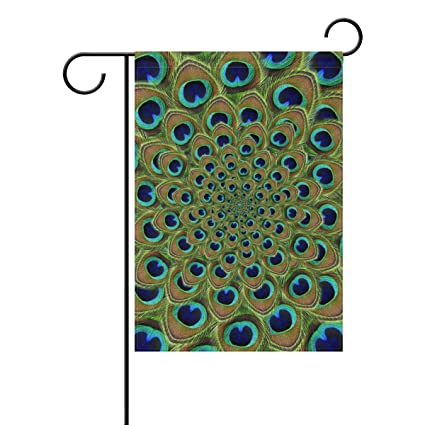 Amazon Com Double Joy Green Swirl Feather Peacock 12x18 Inch