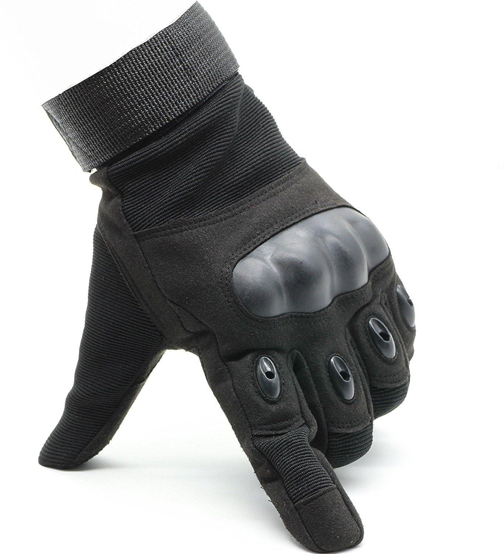 OMGAI Männer Voller Finger Militärische Taktische Handschuhe Des Harten Knöchel Mit Klettverschluss für Airsoft Armee Paintball Motorrad Outdoor Sport