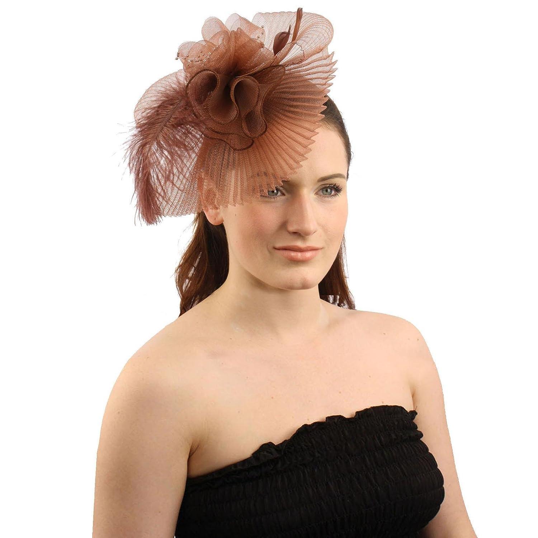 SK Hat shop Handmade Floral Beads Feathers Removable Headband Fascinator Cocktail Hat SK-Hat-Shop