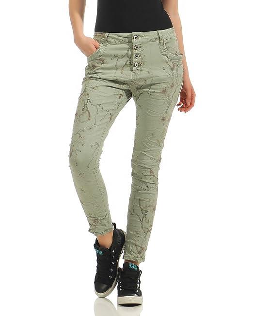ZARMEXX Pantalones Vaqueros de Mujer Baggy Jeans Boyfriend ...