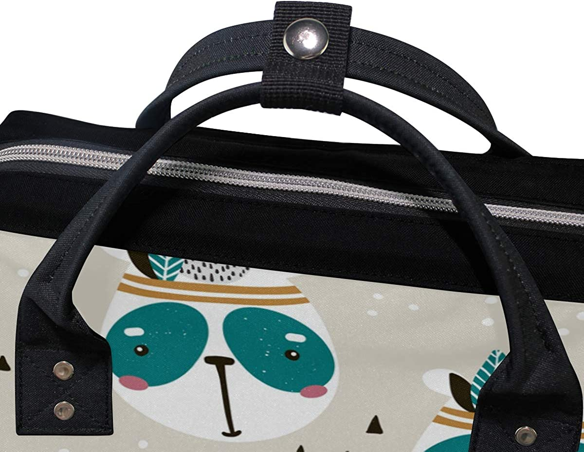 School Backpack Panda Savage Leave Bag Student Stylish Unisex Laptop Book Bag Rucksack for Teen Boys and Girls