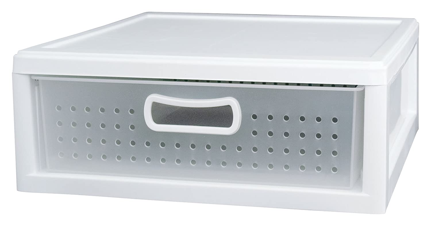 Amazon.com: Sterilite 21018004 Shallow Closet Drawer   White: Home U0026 Kitchen
