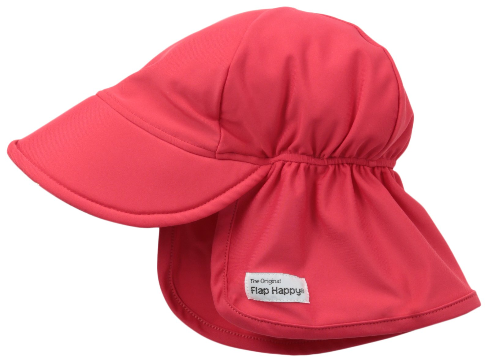 Flap Happy Baby and Childrens Swim Flap Hat UPF 50+, Highest Certified UV Sun Protection, Azo-free dye, Floats on Water, Red Large