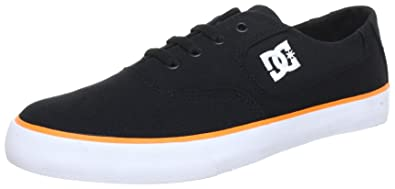 DC Men's Flash TX Lace-Up Sneaker,Black/Orange,10 ...
