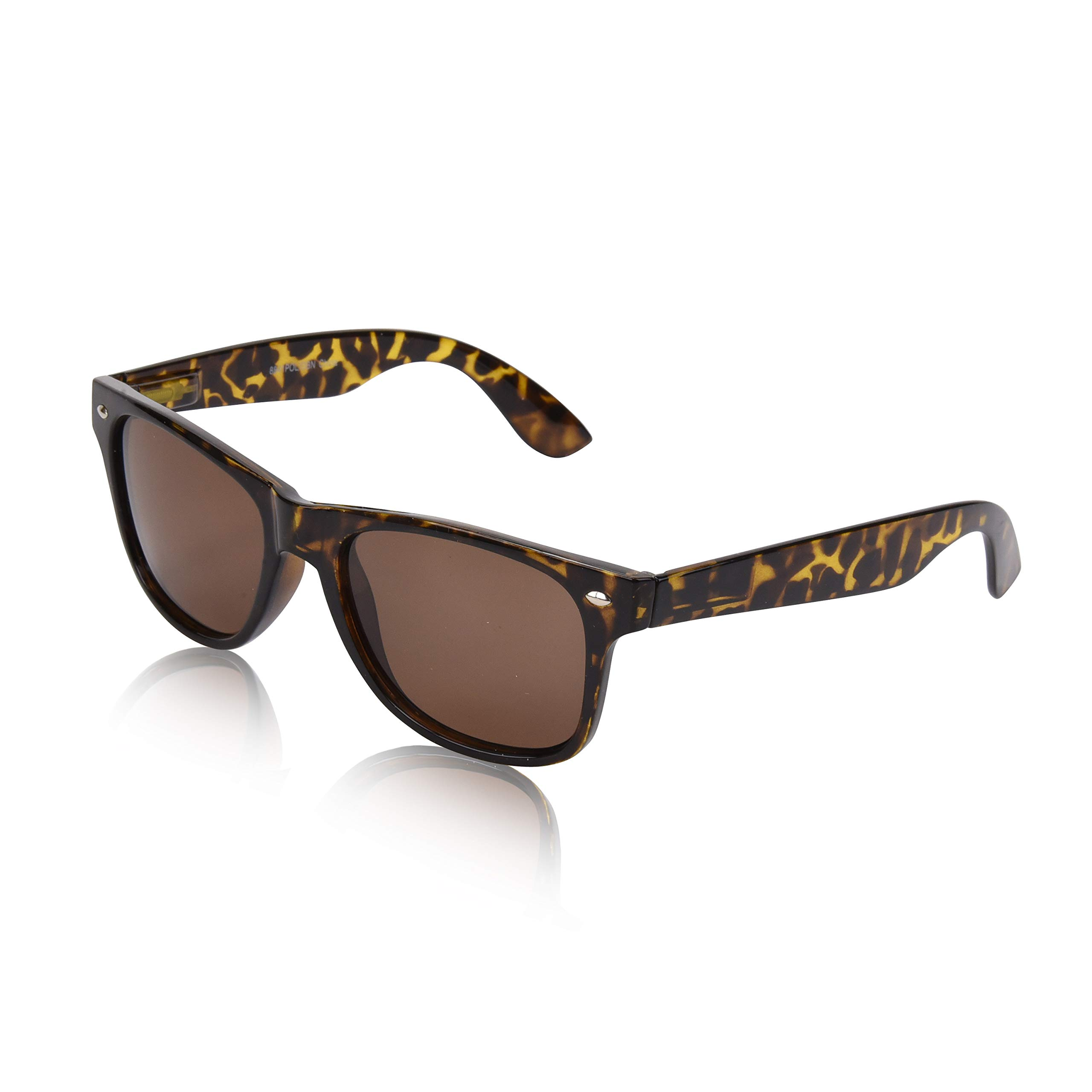 Classic Sunglasses Polarized For Man Woman UV 400 Protection Eyeglasses Tortoise by SunnyPro