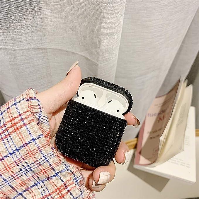Diamond Bling Glitter Bluetooth Estuche Para Auriculares InaláMbricos Para Airpods 2 Accesorios De Cubierta Protectora Para Apple Airpods Caja De Carga: Amazon.es: Electrónica