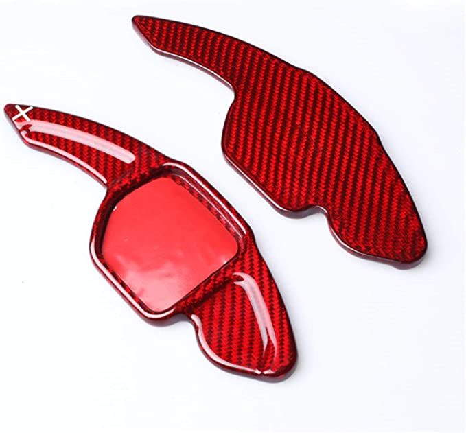 GZYF Carbon Fiber Paddle Extension Steering Wheel Shifter Paddle Compatible with Audi A3 2017 /& TT 2015-2017 Red