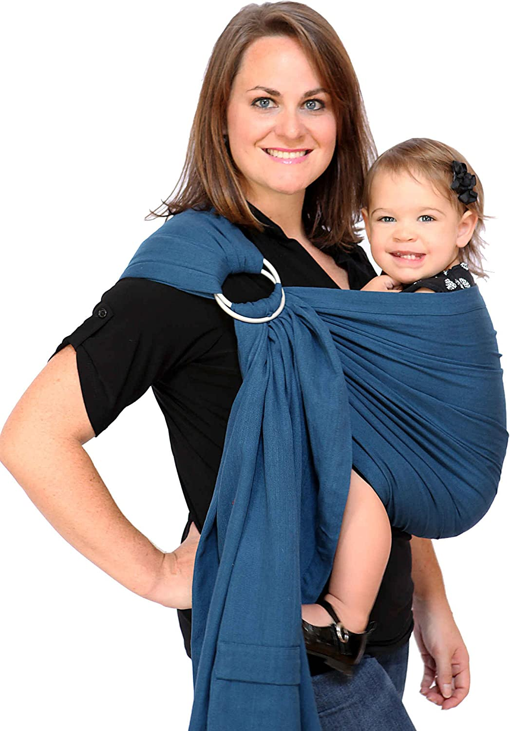 Maya Wrap Lightly Padded Ring Sling – Twilight Blue – Medium