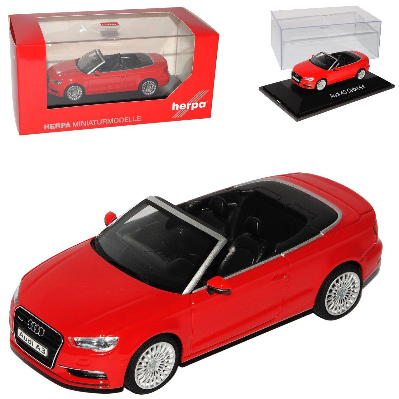Audi A3 8V Cabrio Rot Ab 2013 1 43 Herpa Modell Auto B00IA7HJ3G Miniaturmodelle Elegante Form | Haltbarer Service