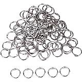 100 Pieces 3/ 4 Inch Metal Round Loose Leaf Binder Rings, Silver