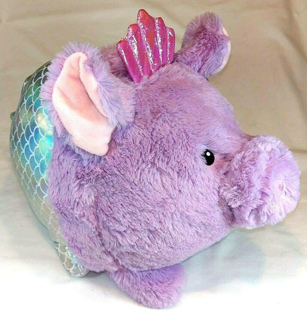 Your Zone Jumbo Plush Purple Simmering Mermaid Piggy Bank