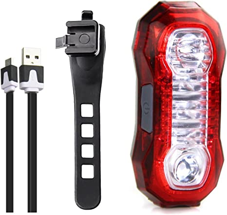 Hikpro Luz Trasera Bicicleta Micro USB Recargable, 3W ...
