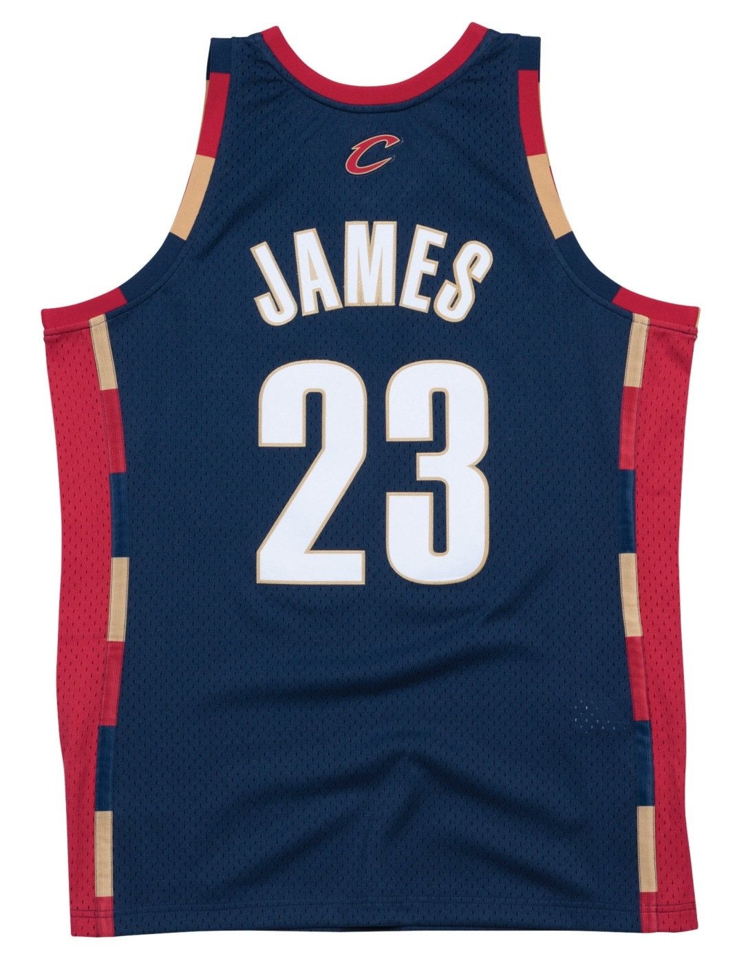 new product 7de20 cb1bb Lebron James Cleveland Cavaliers Mitchell and Ness Men's Navy Throwback  Jesey