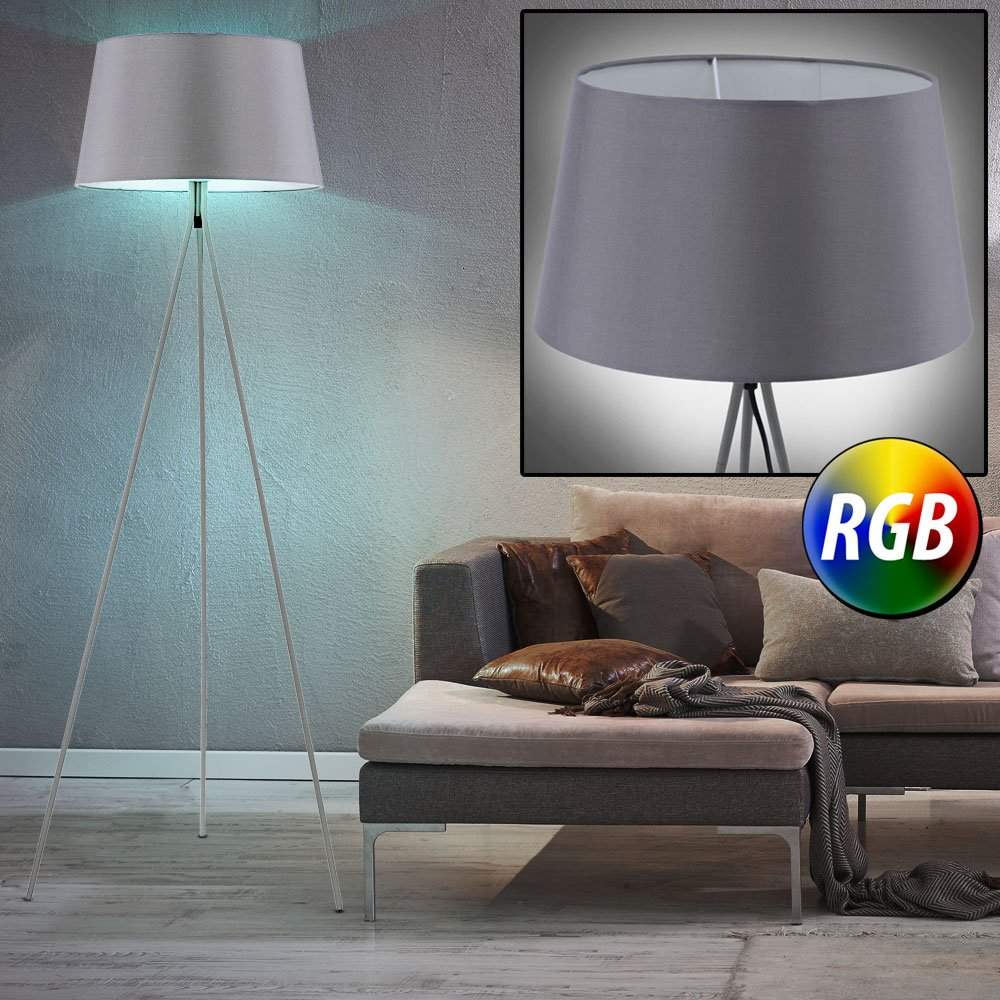 LED Decken Fluter Wohn Zimmer Papier Stehlampe RGB Fernbedienung Living-XXL