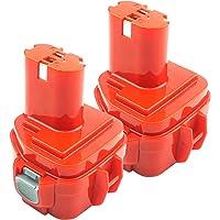 ADVNOVO 2 Stuks 12V 3,5Ah Ni-MH Batterij Compatibel met Makita PA12 1222 1220 1235 1233 1234 1235B 1235F 192696-2 192698…