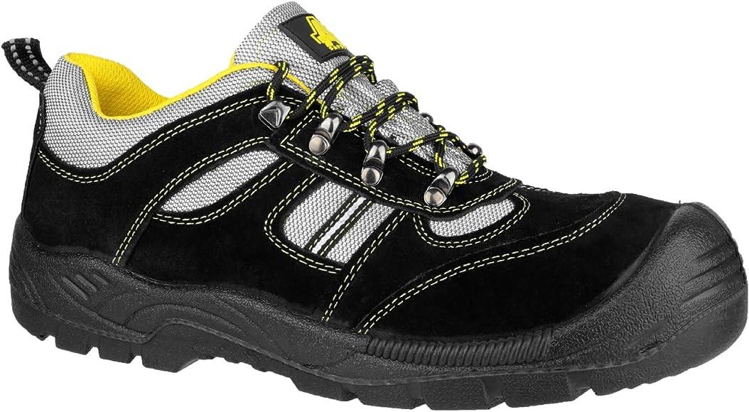 Amblers Ladies Womens Black Grey Safety