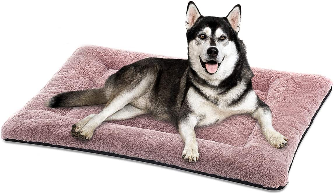 SIWA MARY Dog Bed Mat Soft Crate Pad Washable Anti-Slip Mattress for Large Medium Small Dogs and Cats Kennel Pad