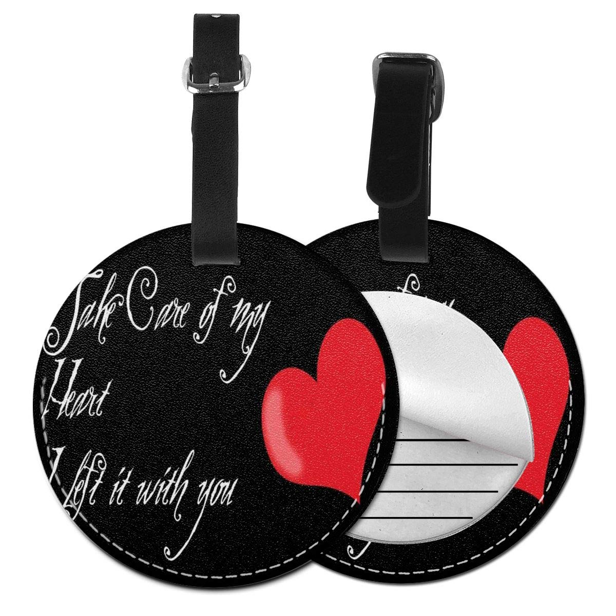 Love Quote Luggage Tag Suitcase Backpacks ID Tag with Adjustable Strap 4 Pack by Rachel Dora