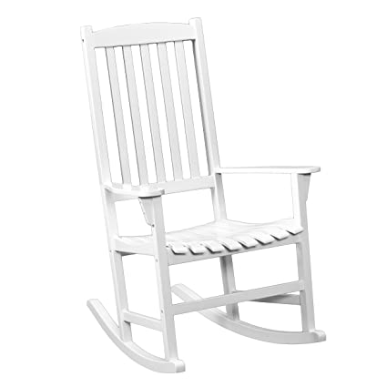 Phenomenal Southern Enterprises Eucalyptus Porch Rocking Chair White Finish Gmtry Best Dining Table And Chair Ideas Images Gmtryco