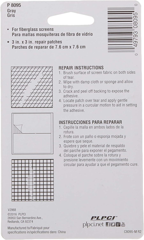 """Screen Patch Repair Kit 3/"""" x 3/"""" Fiberglass Screens 5 Pack #P8096 NEW"""