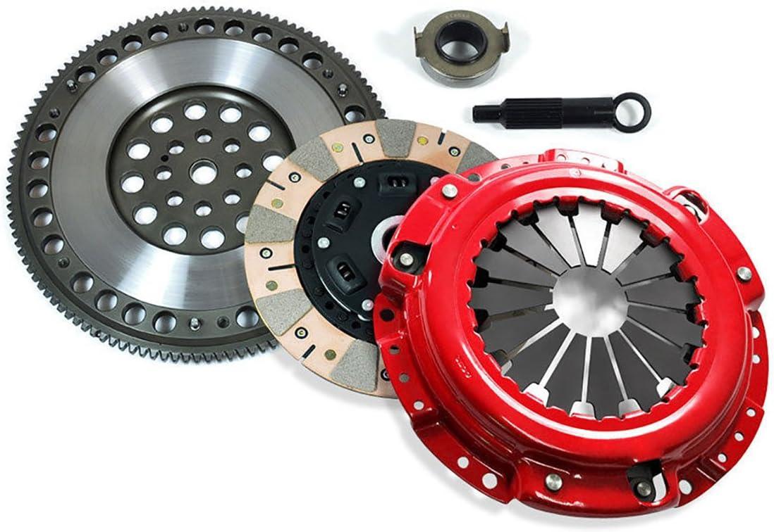 EFT STAGE 3 DUAL FRICTION CLUTCH KIT /& FLYWHEEL FOR HONDA F22 F23 H22 H23 MOTOR