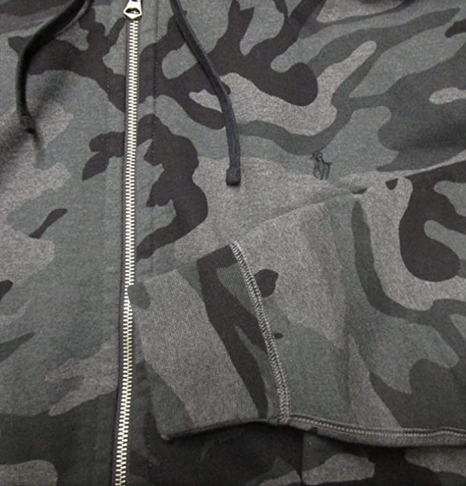 5eeb6e0ae8a38 Polo Ralph Lauren Men's Big and Tall Hooded Sweatshirt Hoodie Zippered  Fleece Jacket at Amazon Men's Clothing store: