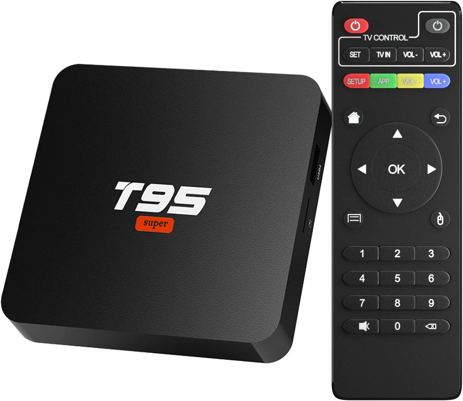 Android 10.0 TV Box, Sidiwen T95 Super Android Box Allwinner H3 Quad-Core 2GB RAM 16GB ROM Media Player, 2.4Ghz WiFi Ethernet 3D 4K Smart TV Box: Amazon.es: Electrónica