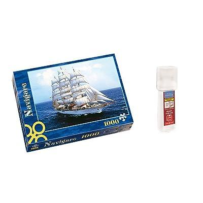 Outletdelocio. Pack Puzzle Trefl 10132. Barco Velero Sea Cloud. 1000 piezas + Pegamento Puzzle: Juguetes y juegos