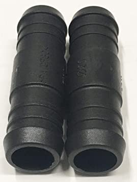 2 x 3mm STRAIGHT BARBED PLASTIC HOSE JOINER WATER AIR FUEL CONNECTOR.