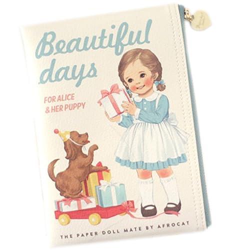Amazon.com: Corea afrocat Papel muñeca mate Book Pouch S ...
