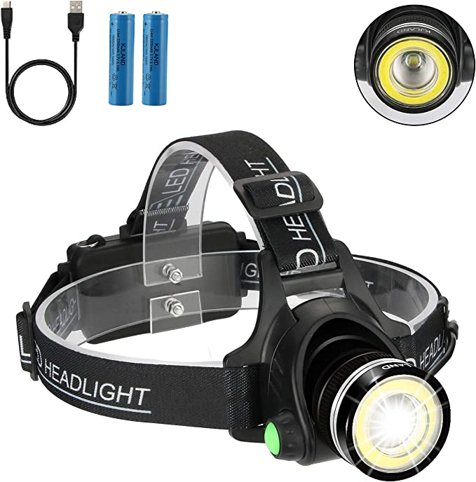 A2S9 T6 LED COB Flashlight Rechargeable Torch USB 2-in-1 Outdoor Spotlight Flood