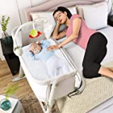 Baby Bassinets – Adjustable and Easy to Assemble Bassinet for Baby, Lightweight Baby Bassinet and Bedside Sleeper for…