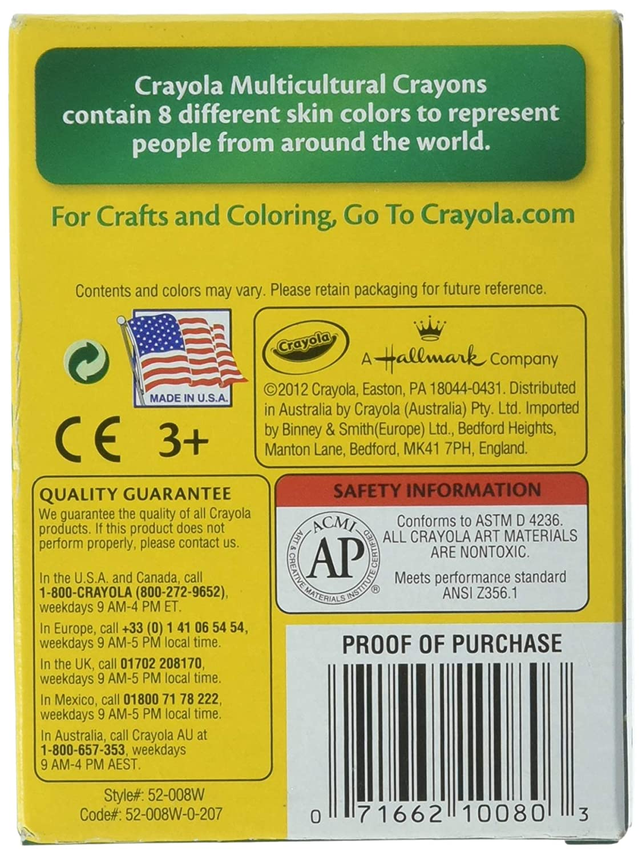 Crayola Multi-Cultural Crayons 12 Pack Regular Assorted Skin Tone Colors