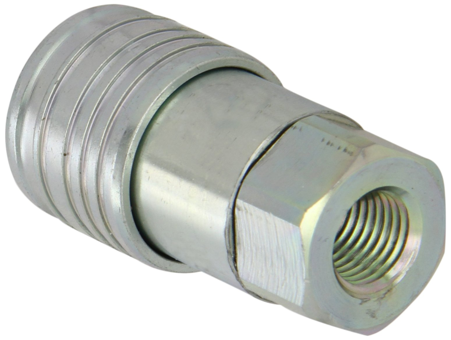 Dixon 2HTF2 Steel Flush Face Hydraulic Quick-Connect Fitting, Coupler, 1/4 Coupling x 1/4-18 NPTF