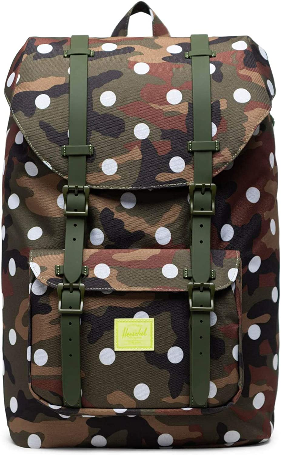 Herschel Supply Co. Little America Mid-Volume Woodland Camo White Dot One Size