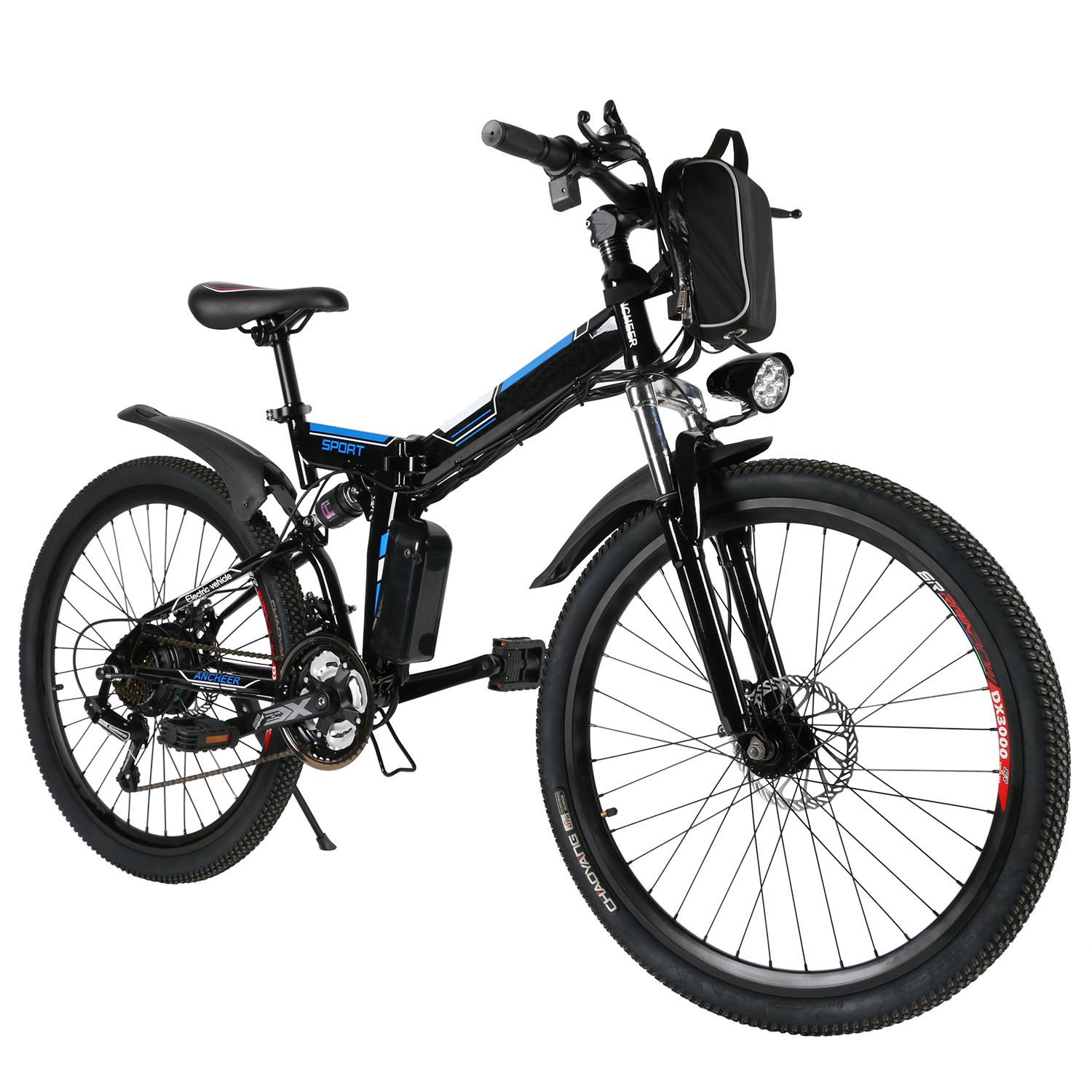 0b3df8ba829 Folding Electric Mountain Bike, 26 Inch Wheel, Removable Lithium-Ion  Battery (36V 250W), 3-Speed Changeable E-Bike【US Stock】