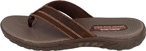 ambición Prisionero factible  Skechers Men's Reggae-cobano Flip Flops: Amazon.co.uk: Shoes & Bags