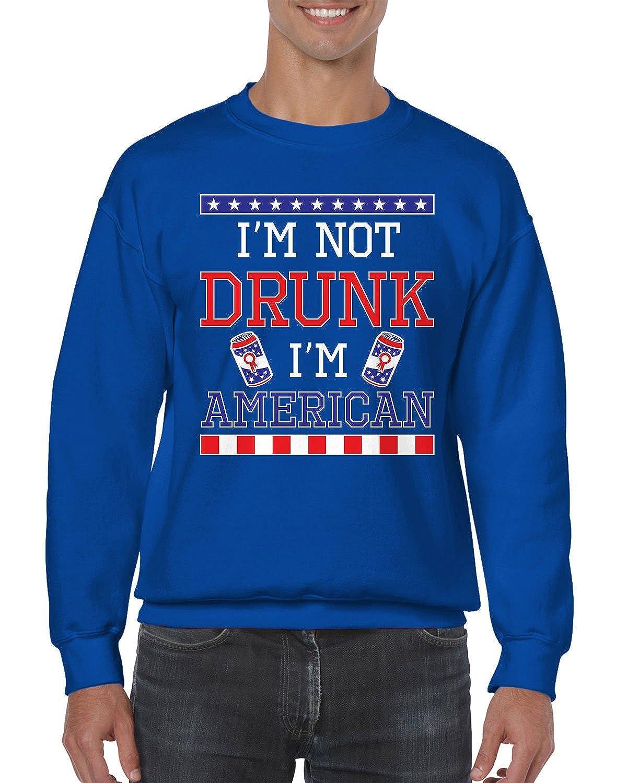 Im American Crewneck Sweater SpiritForged Apparel Im Not Drunk