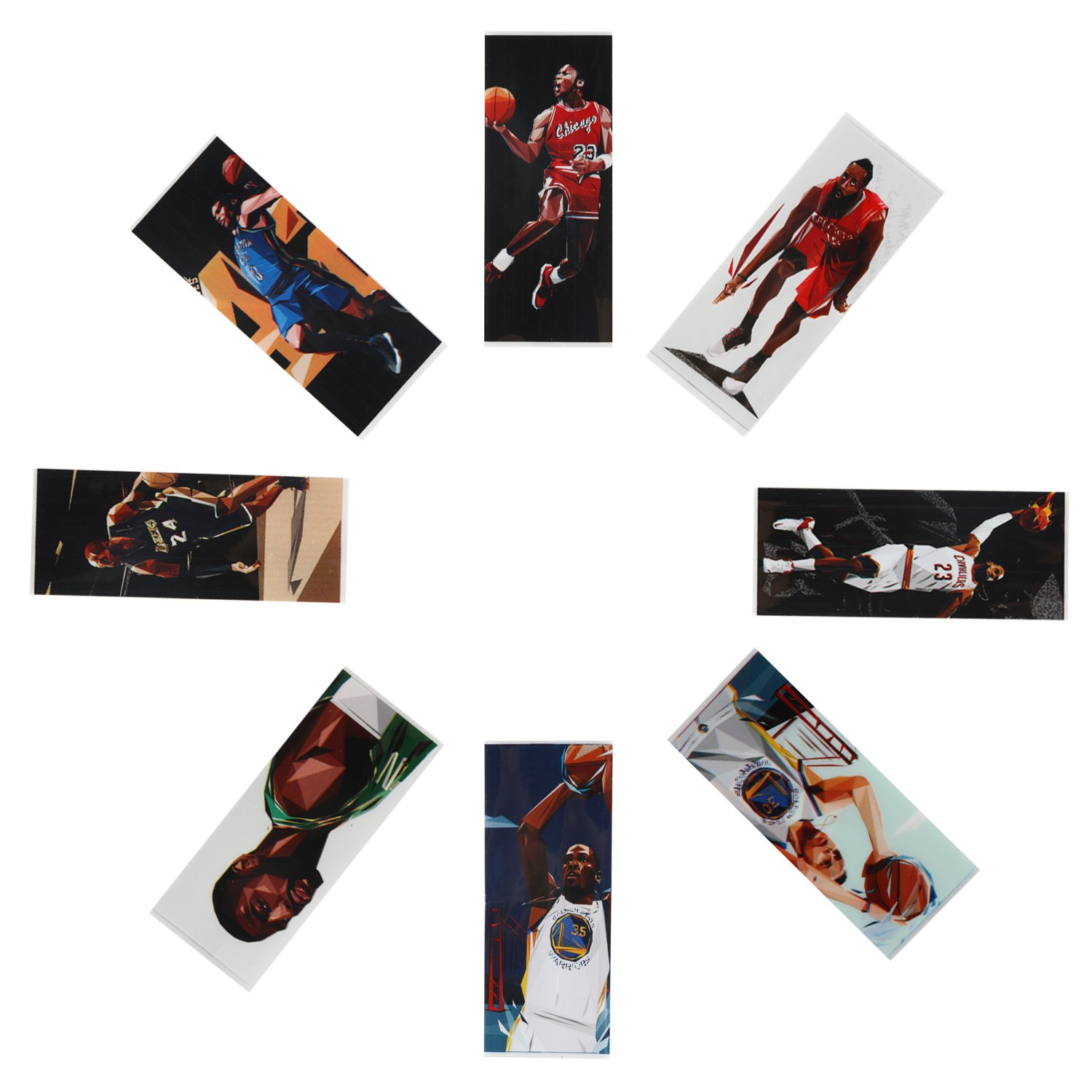 80-Packs Pre-Cut 18650 Battery Wraps Cover NBA Series Protective Sleeve Heat Shrink Wrap - 8 Styles FogsLord