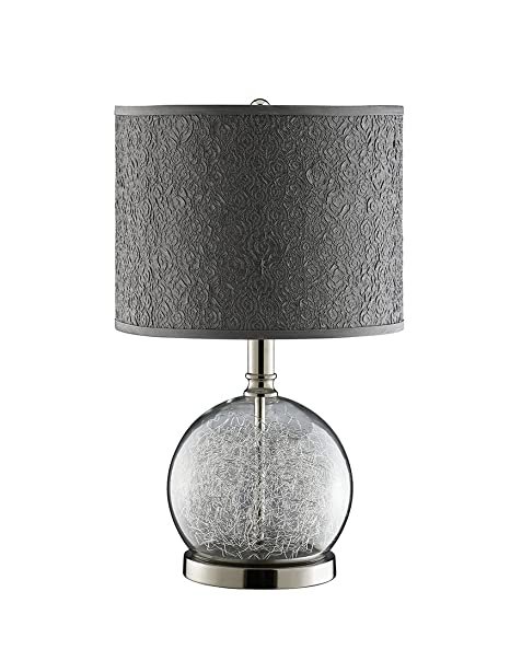 Globe Chrome World Watt Room Wire Lamp With and Stein Filled 947328 Polished Base Glass Clear Accent OukwZTXiP