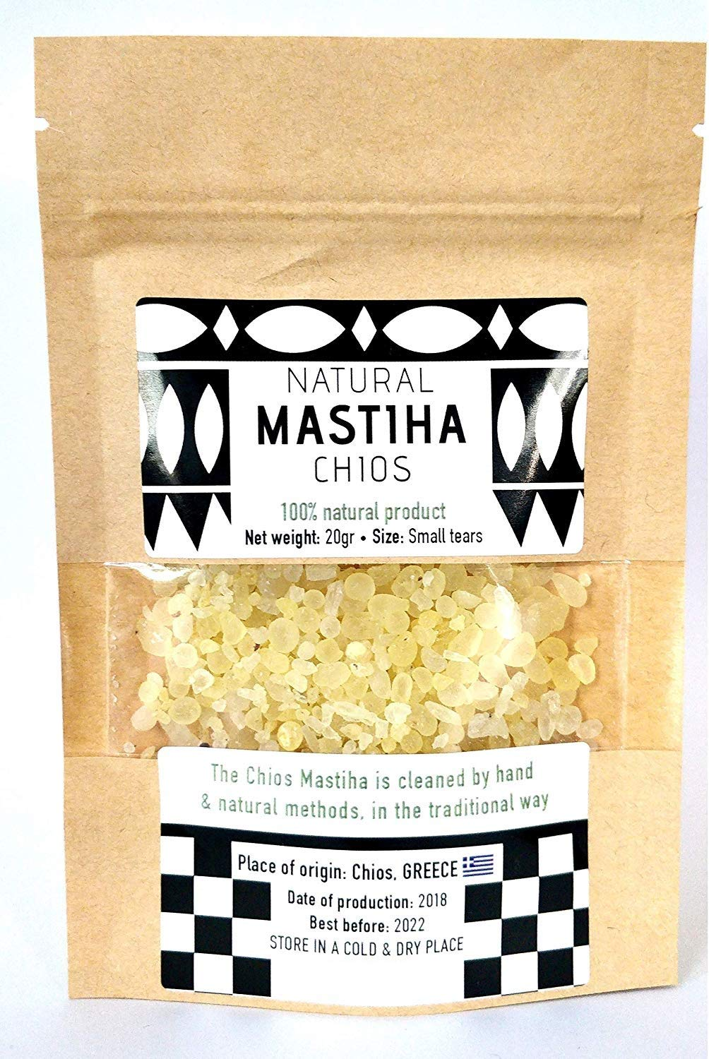 IconsGr Chios Mastiha Tears Gum Greek 100% Natural Mastic Packs From Mastic Growers (20gr Small Tears)