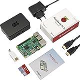 Globmall ABOX Raspberry Pi 3 Modello B Starter Kit con 32GB Micro SD Card, Black Case e Power Supply con Switch