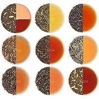 VAHDAM, Assorted Loose Leaf Tea Sampler - 10 TEAS, 50 SERVINGS - Black Tea, Green Tea, Oolong Tea, Chai Tea, White Tea…