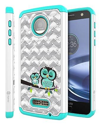 moto z phone white. Moto Z Force Case, Droid Style4U [Shockproof] Cute Phone White