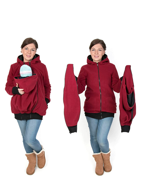 4984288ac FUN2BEMUM 3in1 Maternity Polar Warm Fleece Hoodie Pullover for Two ...