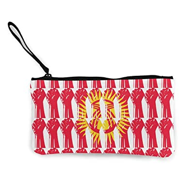 Amazon.com: Monedero de viaje con bandera de Kirguistán, con ...